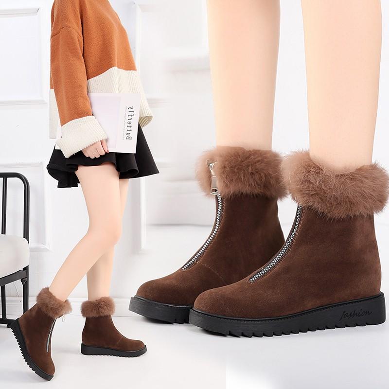 Sepatu Boots Wanita Model Casual Korea Untuk Musim Dingin Shopee