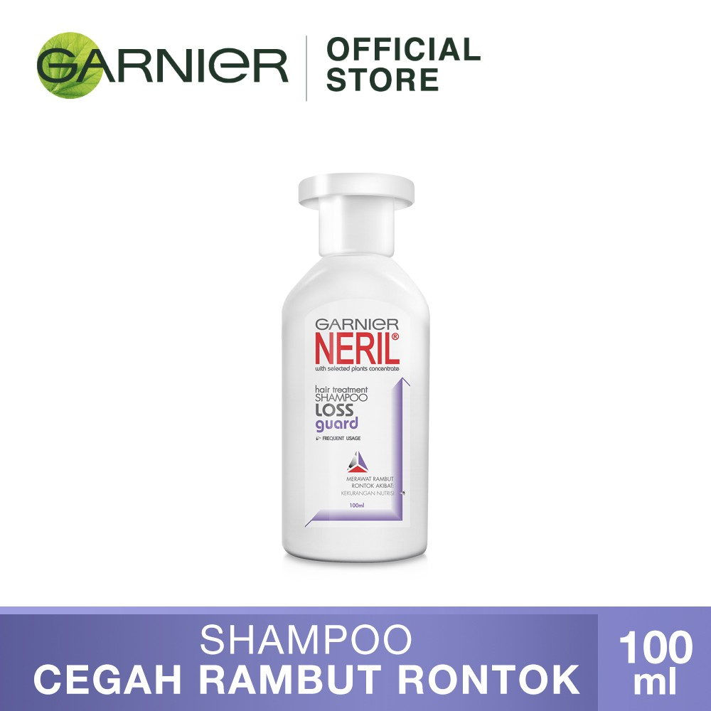 Garnier Neril Shampoo Loss Guard Hair Care - 100 ml (Perawatan Untuk Rambut Rontok)