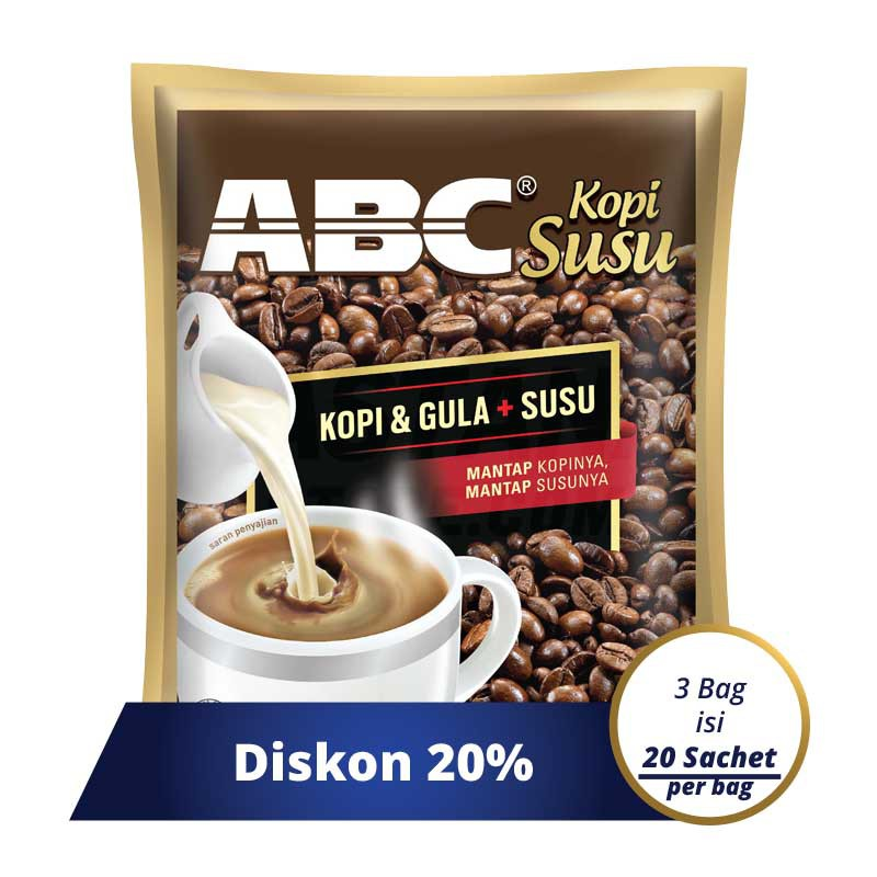 ABC White Instant Coffee Pack 10 (Isi 10 Sachet X 23 Gram) | Shopee Indonesia