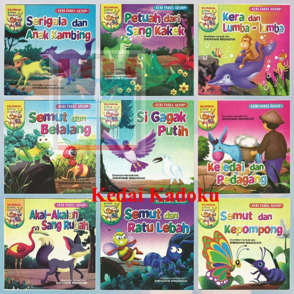 Buku Anak Buku Cerita Bergambar Seri Dongeng Fabel Mengenal Hewan