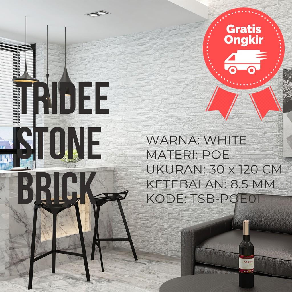 Stiker Wallpaper Dinding Motif Ubin Batu Bata Analog 3d Bahan Foam Sticker Pe Untuk Ruang Keluarga Shopee Indonesia