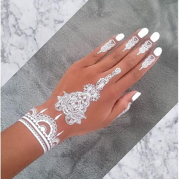 White Henna Pacar Inay Tatto Hena Putih Inai Tato Pewarna Tangan Kaki Bodypainting