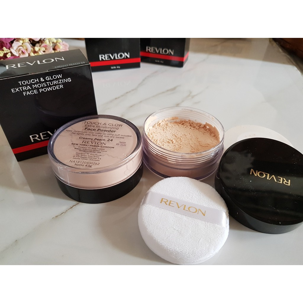 Revlon Touch Glow Extra Moisturizing Face Powder 43gram Creamy Ampamp Liquid Make Up 38ml 43gr Besar Shopee Indonesia
