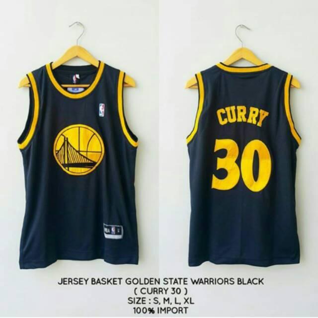 online store 327af e5eed JERSEY BASKET CURRY GOLDEN STATE BLACK