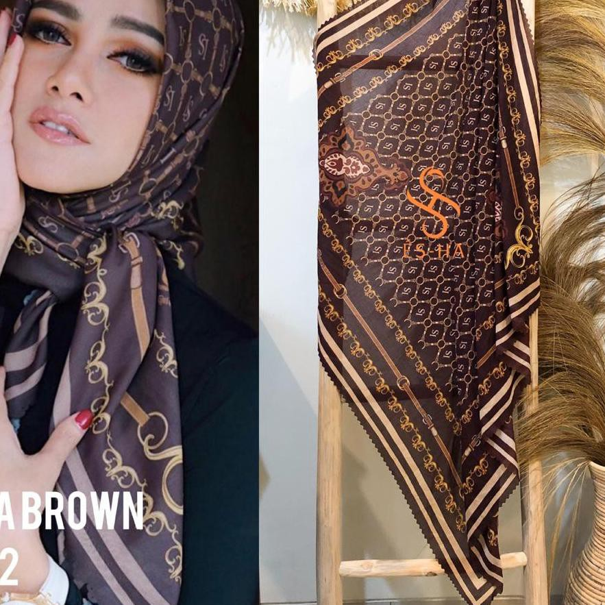 {Original} Hijab Segi Empat Motif Termurah / Hijab Lasercut Voal Motif Berkualitas / Denay KW Series