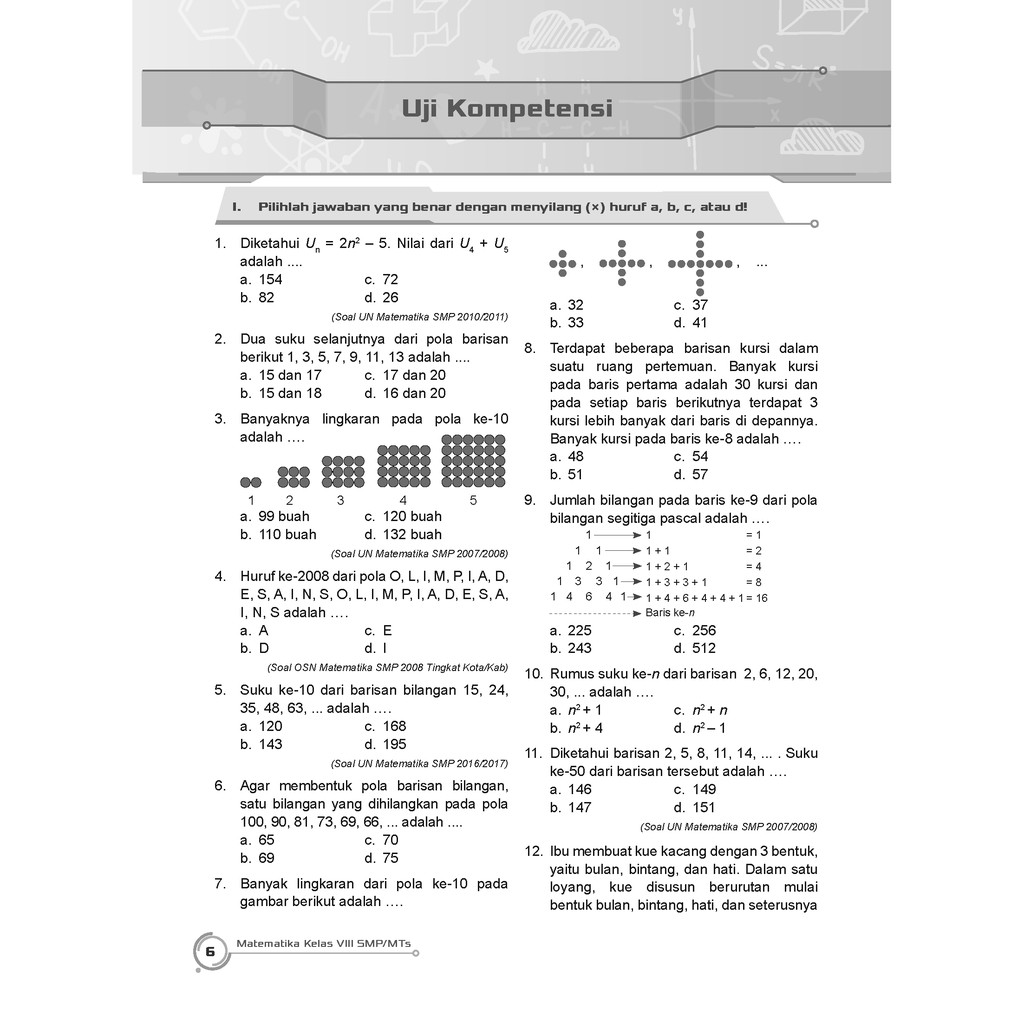 Buku Pendamping Matematika Smp Mts Kelas 8 Kunci Jawaban Incer Shopee Indonesia