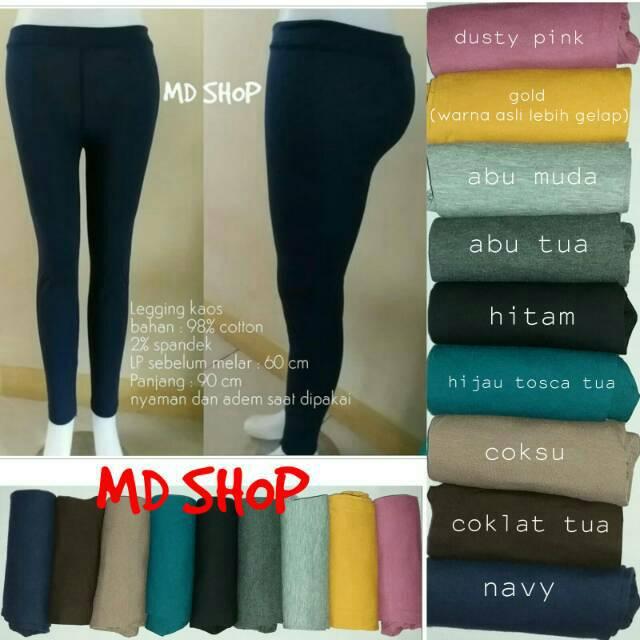 Bisa Cod Celana Legging Celana Panjang Wanita Legging Kaos Ukuran Standart Shopee Indonesia