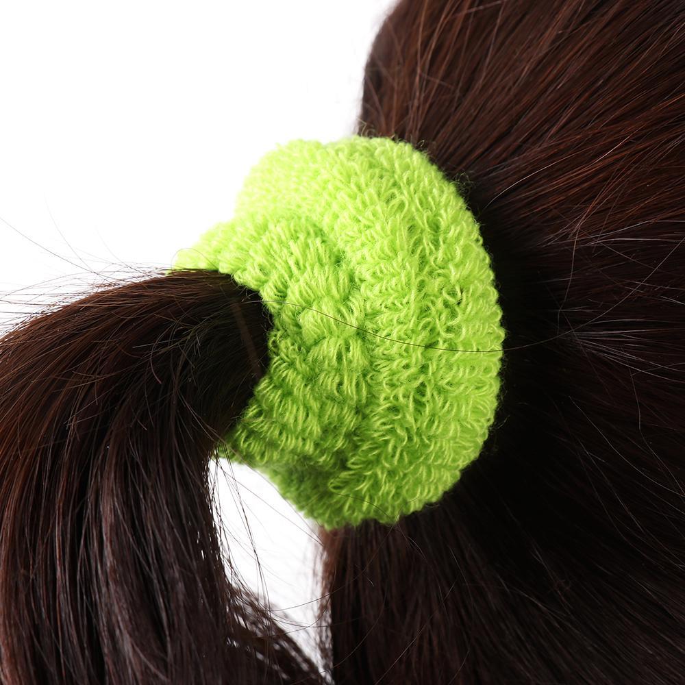 Ikat Rambut Model Lebar Warna Permen Bahan Lembut Untuk Wanita 4