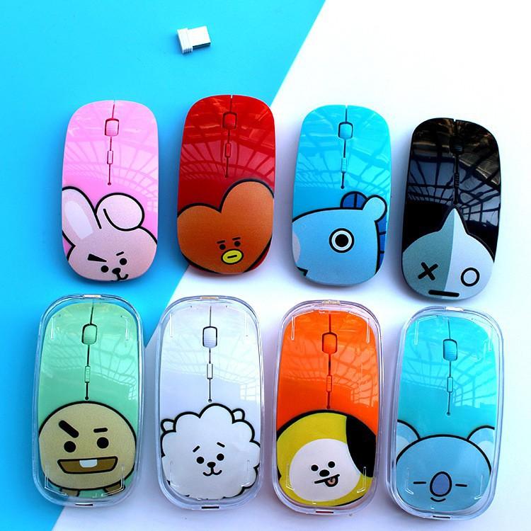 Kpop Bts Bt21 Mouse Wireless Gambar Kartun Untuk Notebook