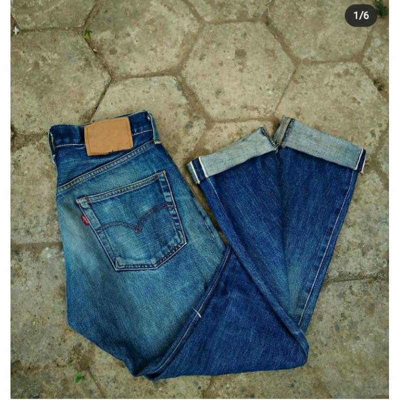 long pants jeans levis 502 big E 90s selvedge vintage original second branded
