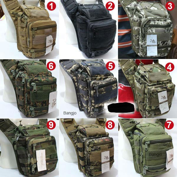 TAS SELEMPANG 803 IMPORT ARMY GURUN BUKAN LOKAL SLEMPANG SLING BAG ... 27a614199d