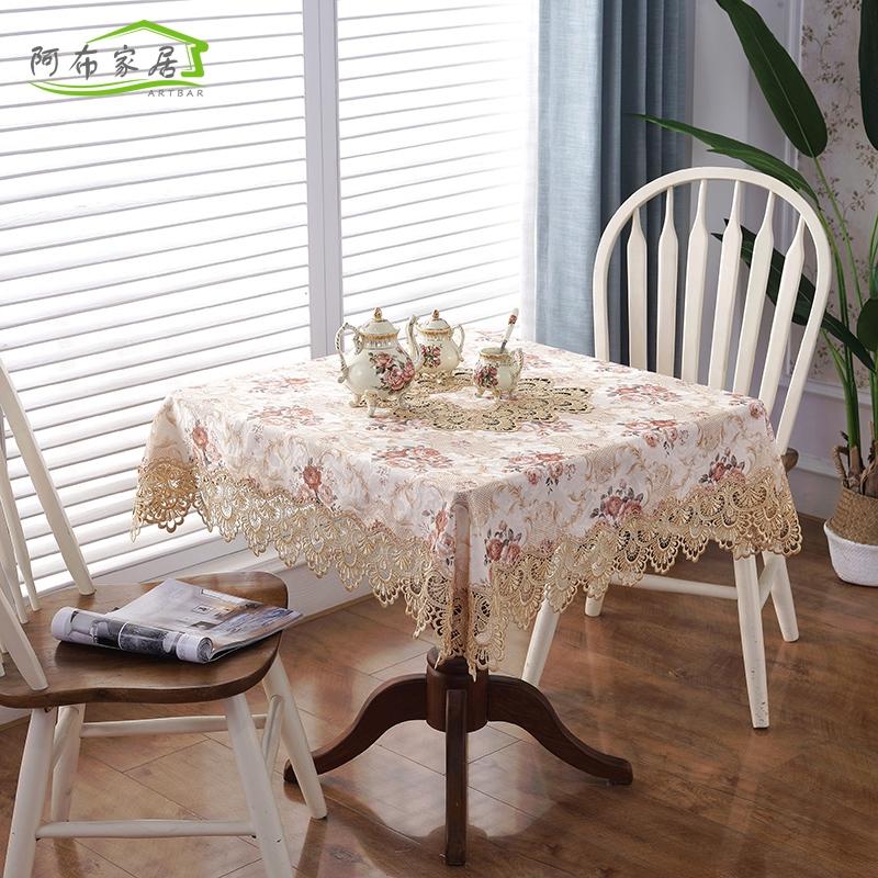 Eropa taplak meja kain persegi rumah teh segar kecil pad polos tabel kopi dan bendera ruang tamu | Shopee Indonesia