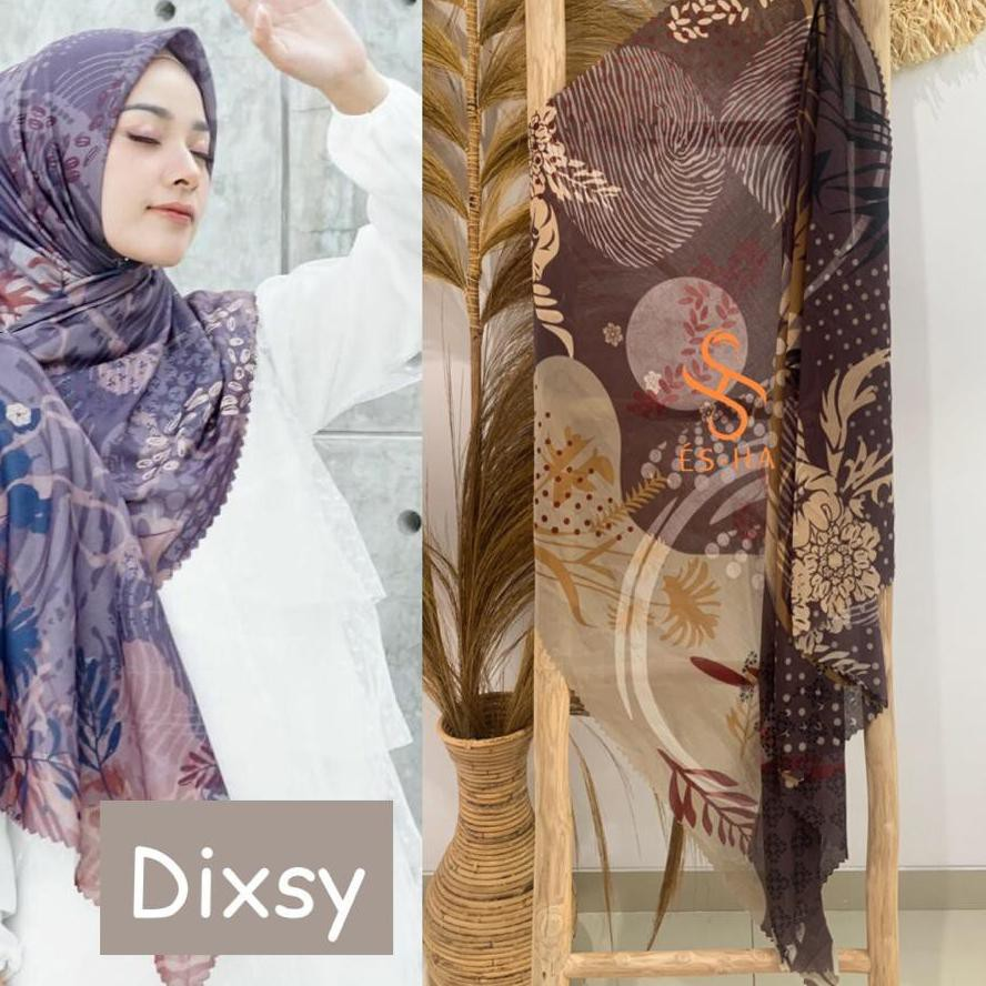 {Original} Hijab Segi Empat Motif Termurah / Hijab Lasercut Voal Motif Berkualitas / Denay KW Motif