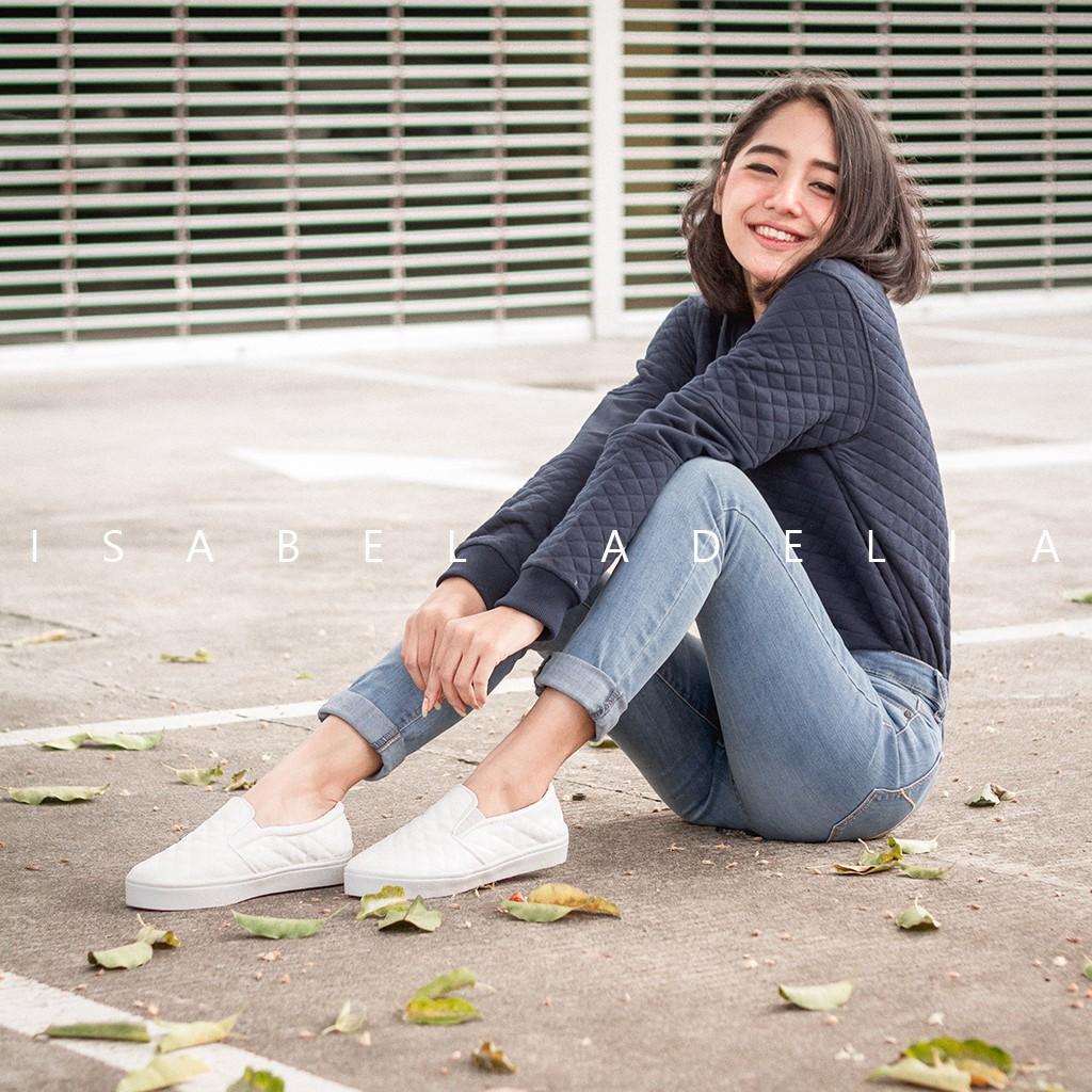 Sale Diskon Isabel Aadc Slip On Shoes White Putih 022 Flash  Olivia Sneakers Biru Muda 37 Shopee Indonesia
