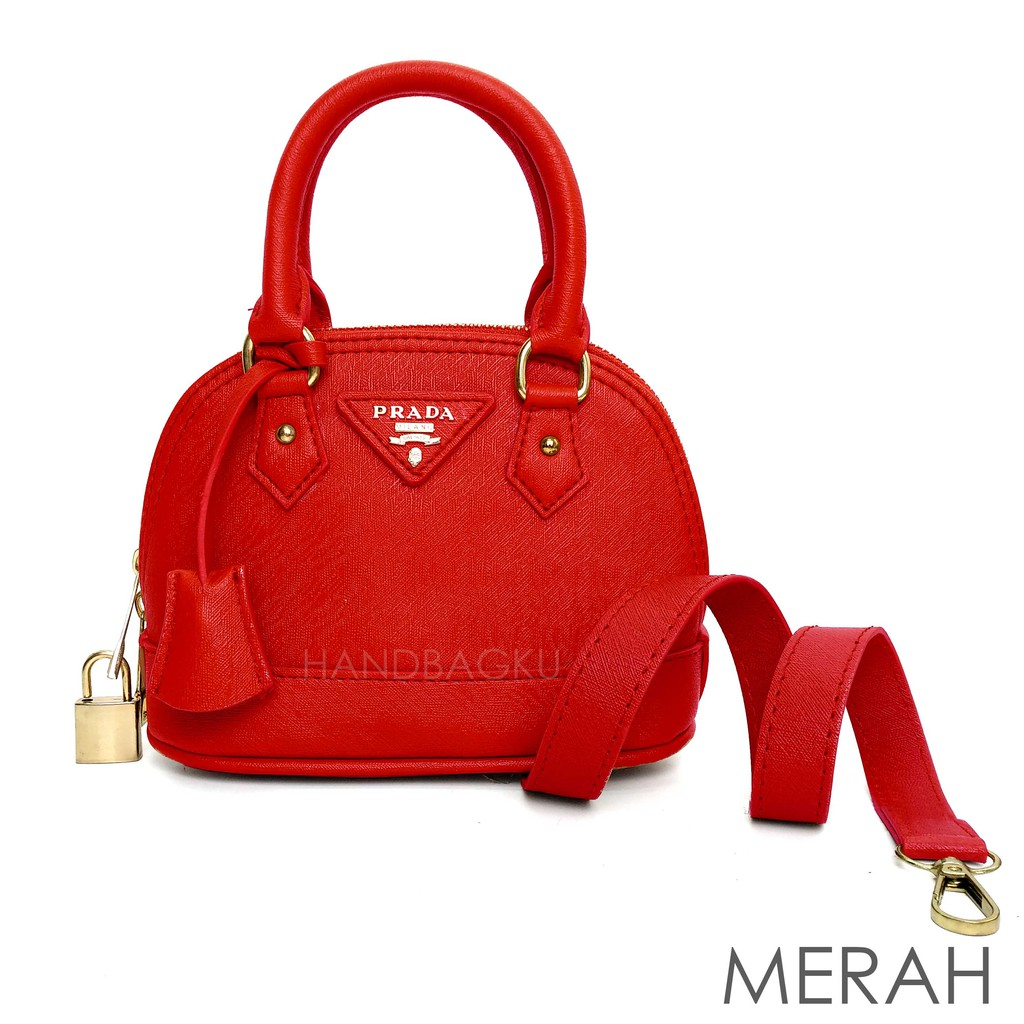 HANDBAGKU TAS PRADA ALMA MINI fashion wanita import batam murah terbaru  selempang branded  490640b1ac