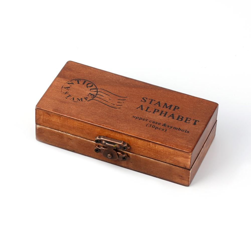70pcs Alphabet Stamps Vintage Wooden Rubber Letter Number And Symbol Stamp Set For DIY Craft Card Making Happy Planner Scrapbooking Supplies