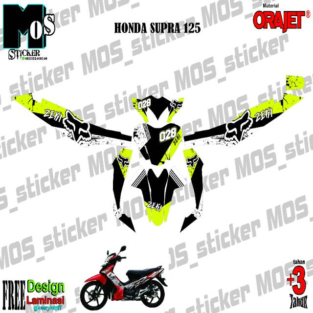 Decal Sticker Honda Supra X 125 Full Body Shopee Indonesia