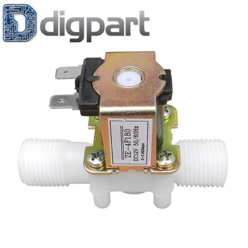 """DC 4.5V Electric Solenoid Valve Water 1//2/"""" Durable Plastic"""