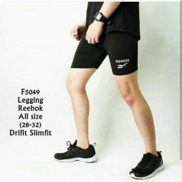 Celana Legging Pendek Pria Celana Gym Olahraga Pria Premium Quality Slimfit Shopee Indonesia