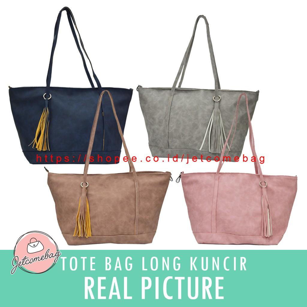 Tas Wanita Tote Bag Saku Kuncir Import JETCOMEBAG  05b1106b14