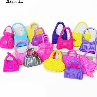3222fa49e3c (ABSea) 10 Pcs Campuran Tas Bahu Mini Tas Gadis Anak Mainan Aksesoris untuk  Boneka Barbie | Shopee Indonesia
