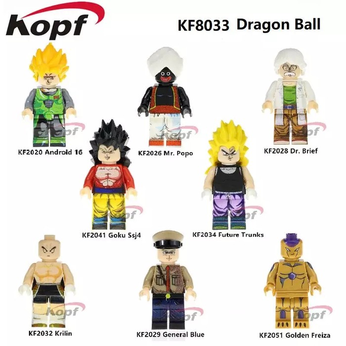 Gashapon Dragon Ball Super POPPO Lego Compatibile Minifigures 46.