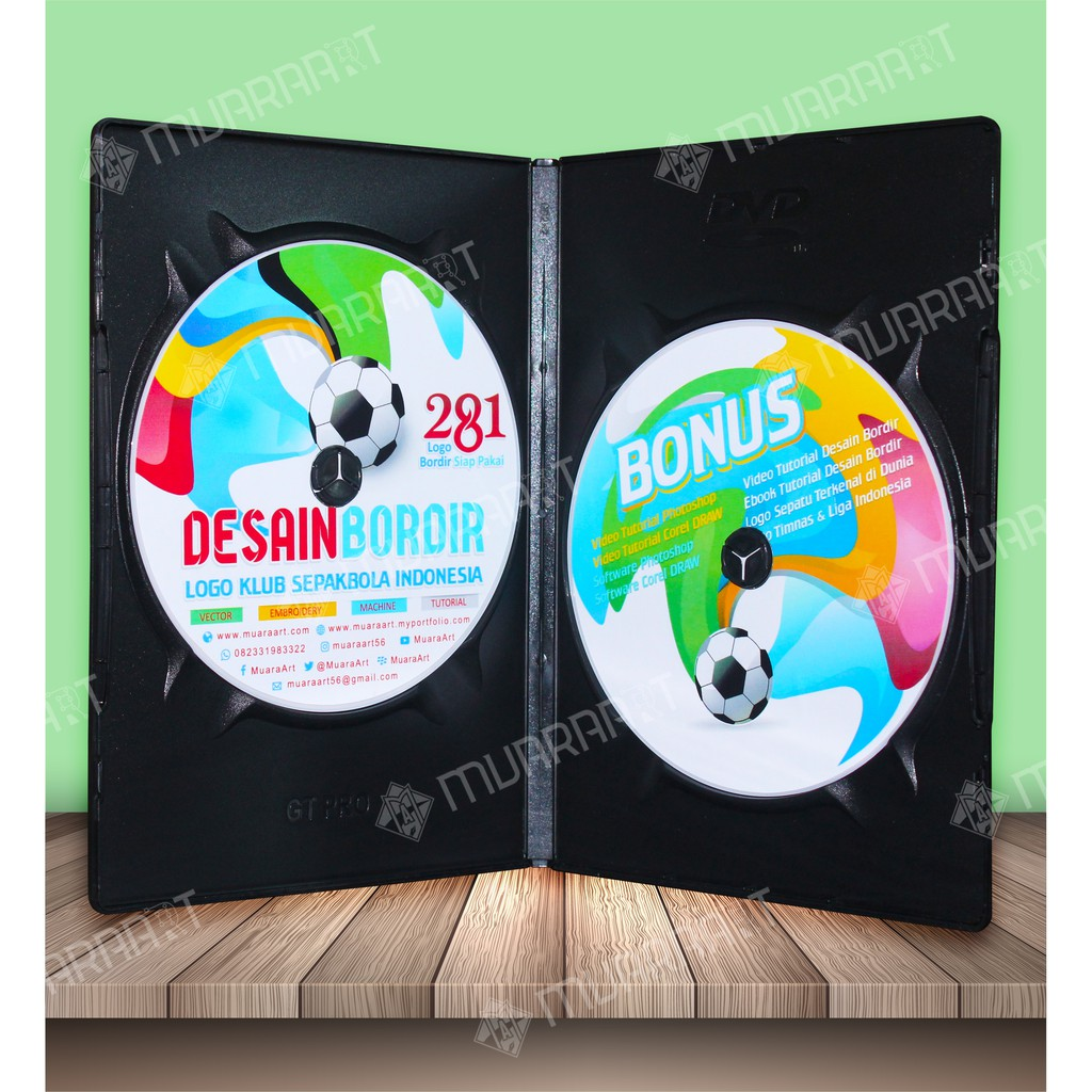 Paket Desain Bordir Logo Klub Sepakbola Indonesia Dengan Wil Embroidery Studio Dan Corel Draw