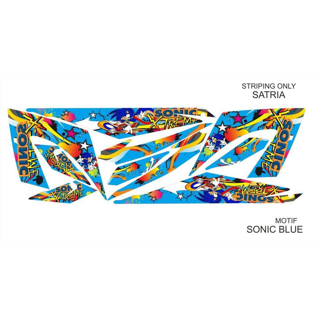 Striping Variasi Satria FU NEW Sonic Merah