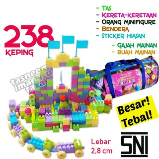 PROMO!! MAINAN EDUKASI BLOCKS LEGO BRICKS 238 PCS - BALOK SUSUN BANGUN