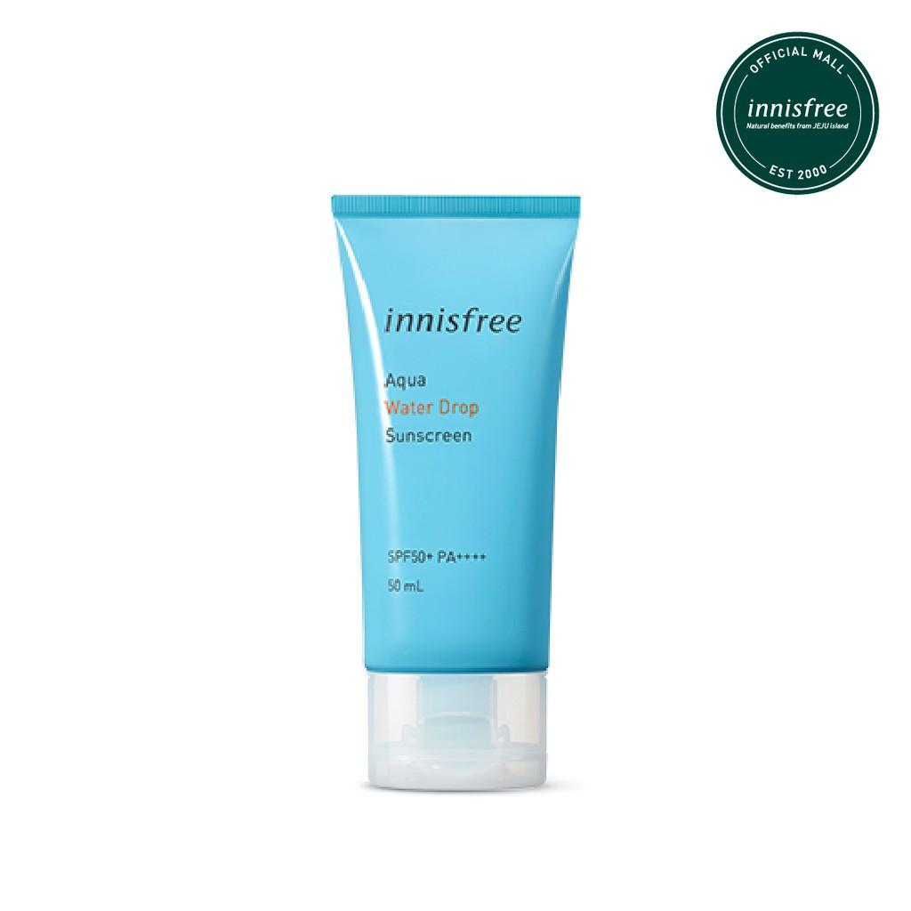 Innisfree Aqua Water Drop Sunscreen Spf50 Pa 50ml Shopee Indonesia