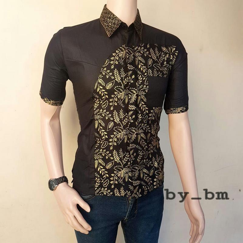 Baju Batik Pria Lengan Pendek Seragam Batik Model Terbaru Batik Pria