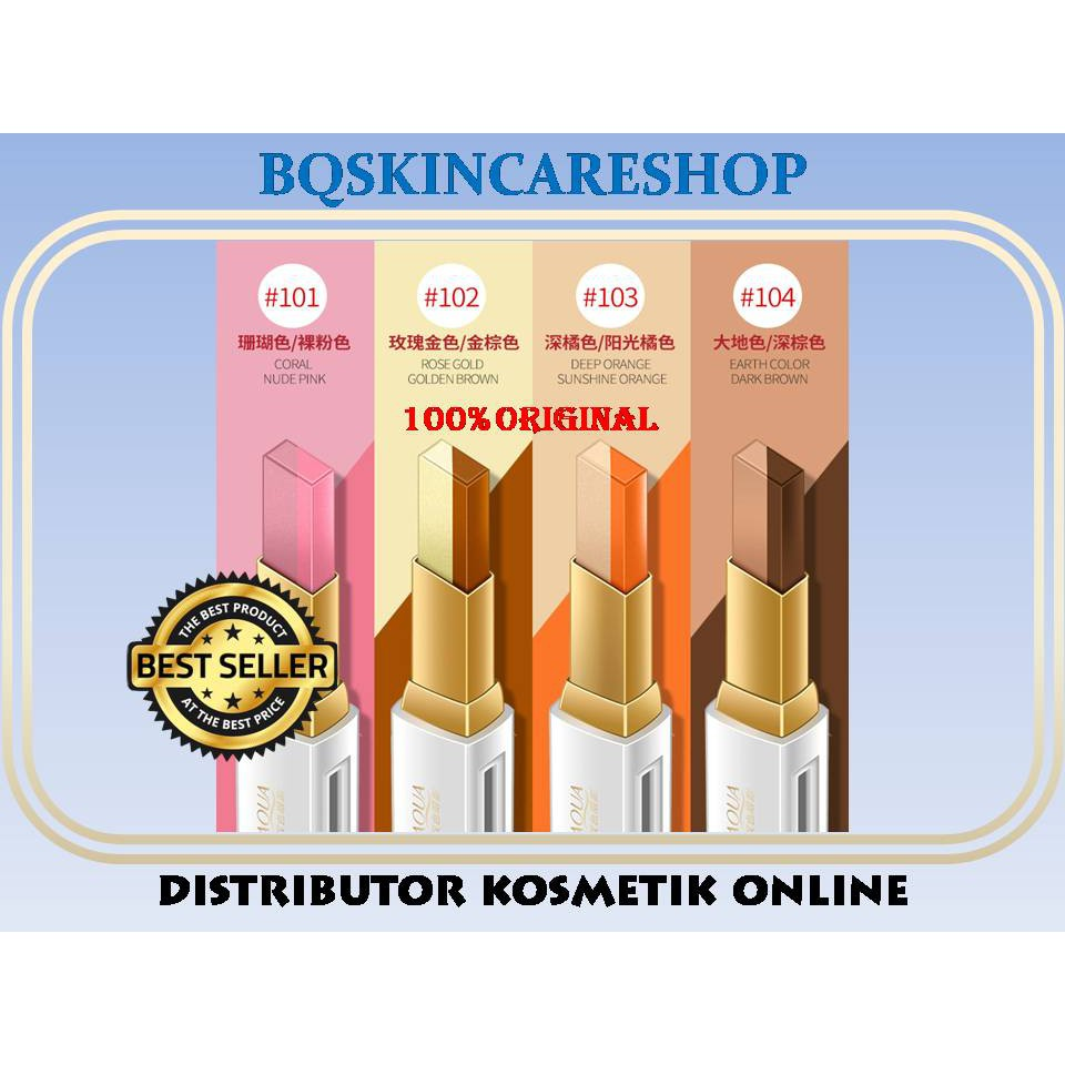 Bioaqua Eyeshadow Double Colour Stick Novo Slider Ombre Shopee Indonesia