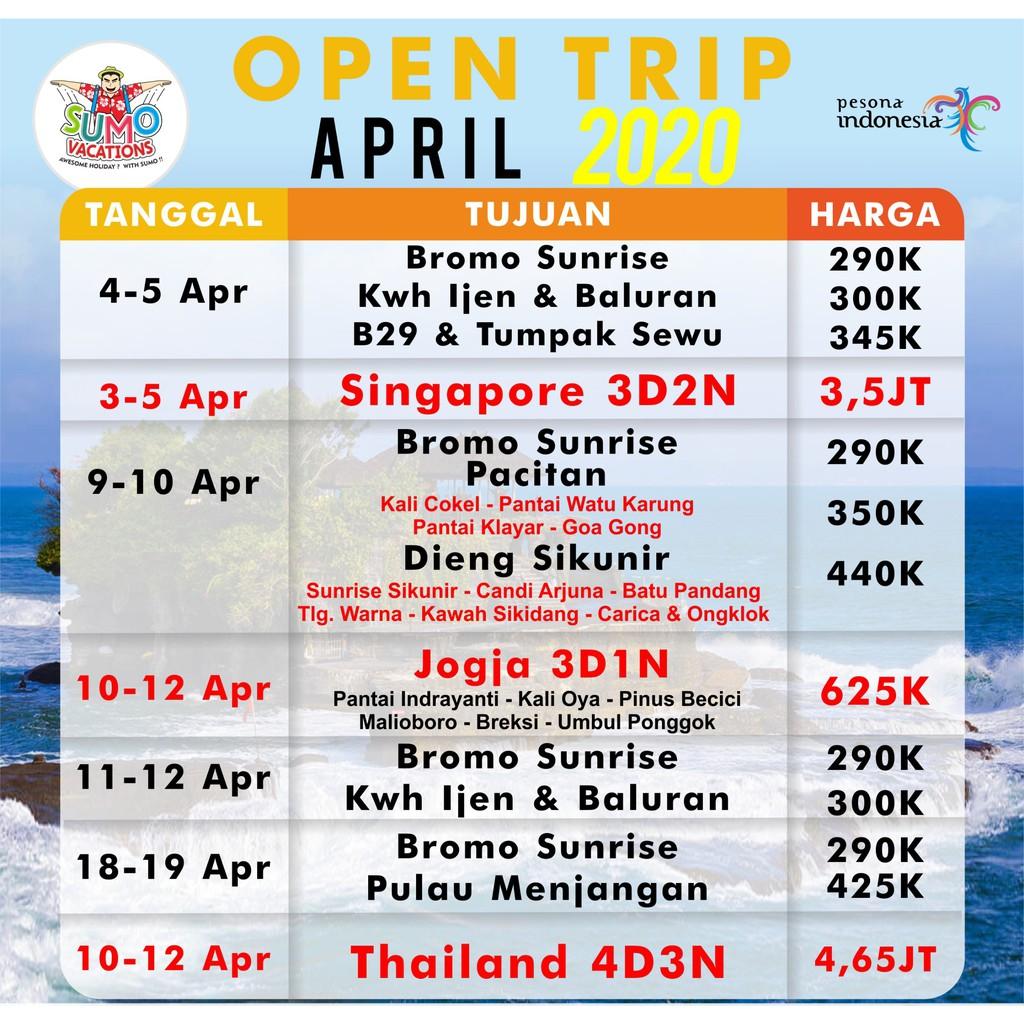 OPEN TRIP - Dieng Sikunir Start Gresik & Surabaya