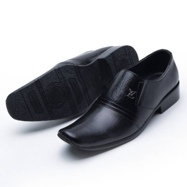 Sepatu Pantofel Pria Formal Kulit Asli Hand Made Model Slip On 073HT  Outsole Rubber Anti Slip  3f57c71972