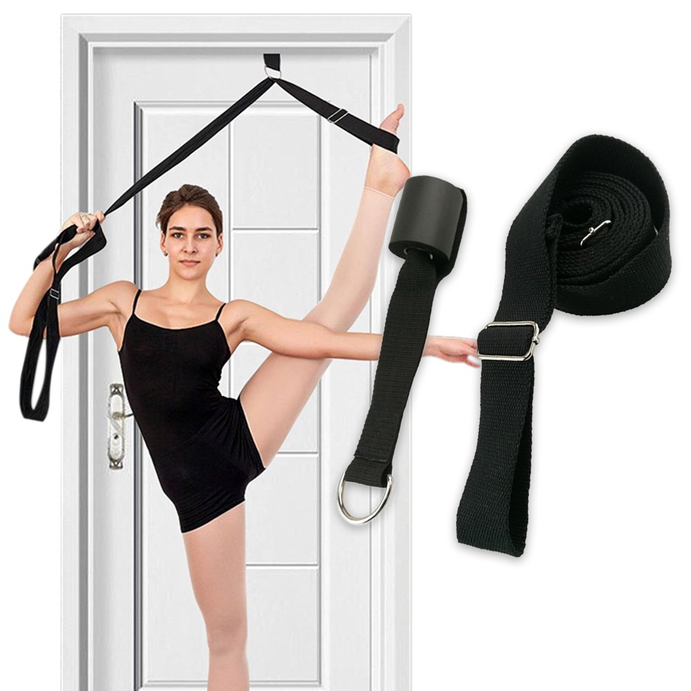 Elastic Yoga Stretch Resistance Exercise Fitness Band Theraband Strap Belt Sport