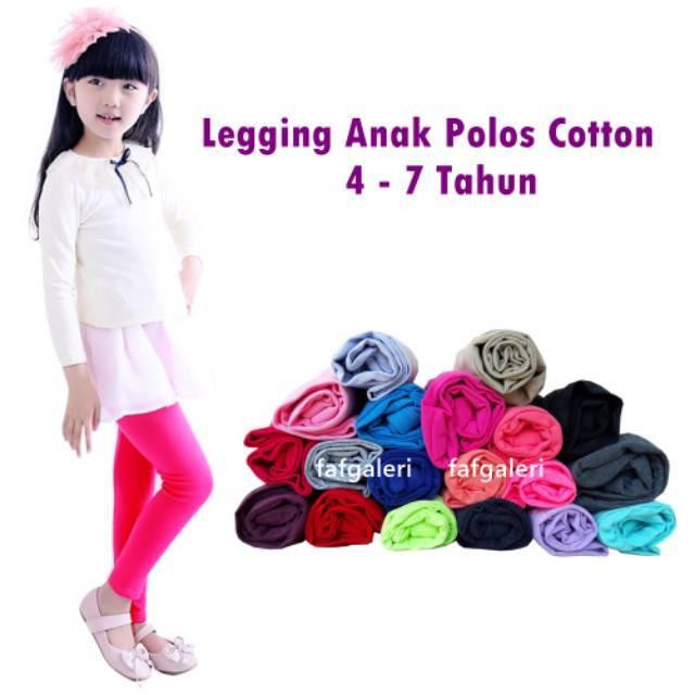 Celana Legging Anak 4 7 Thn Bahan Kaos Cotton Harga Murah Grosir Shopee Indonesia