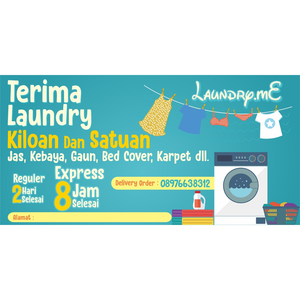 Spanduk Laundry Murah 2x1meter Shopee Indonesia