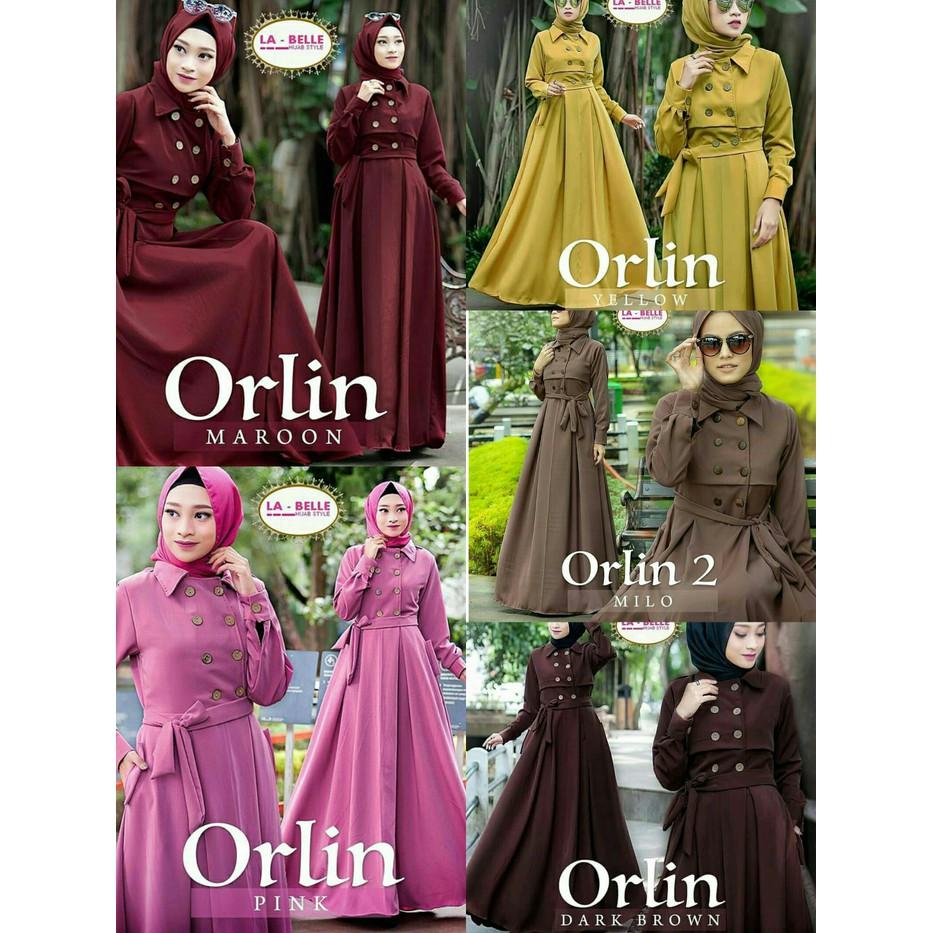Busana Muslim Wanita Grosir Gamis Murah   Pakaian muslim wanita linen rubi    Iswara Dress  3445b58d9a