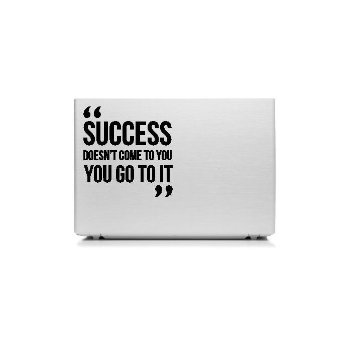 stiker laptop quotes success come motivasi kerja skin cutting