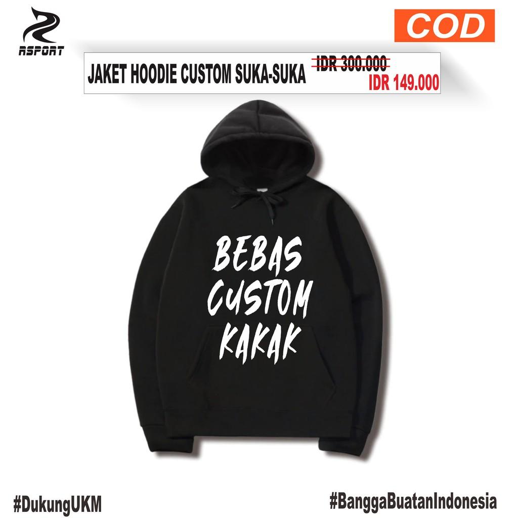 Bayar Cod Jaket Hoodie Desain Suka Suka Hoodie Custom Hoodie Desain Satuan Hoodie Polos Shopee Indonesia