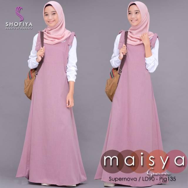Maisya Gamis Baju Muslim Wanita Gamis Syari Gamis Remaja Shopee Indonesia