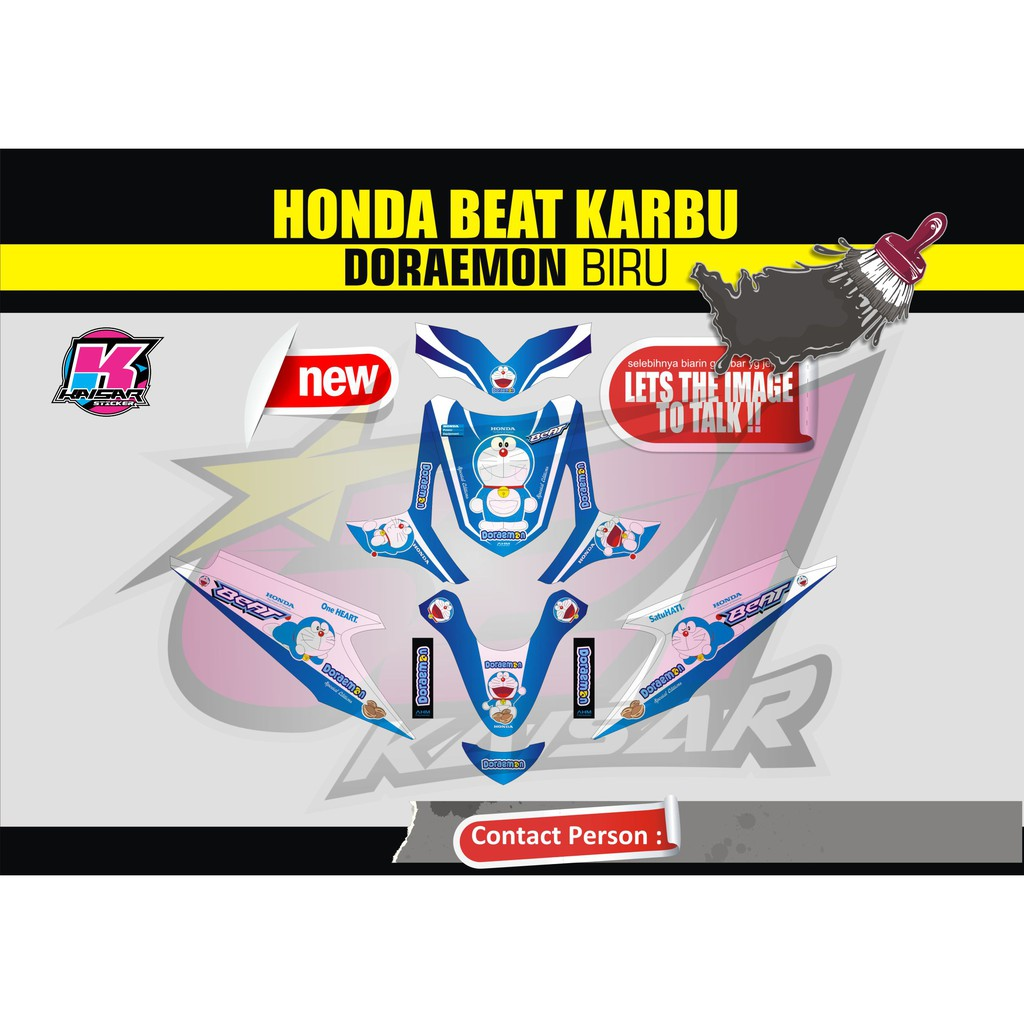 Sticker motor beat karbu doraemon shopee indonesia