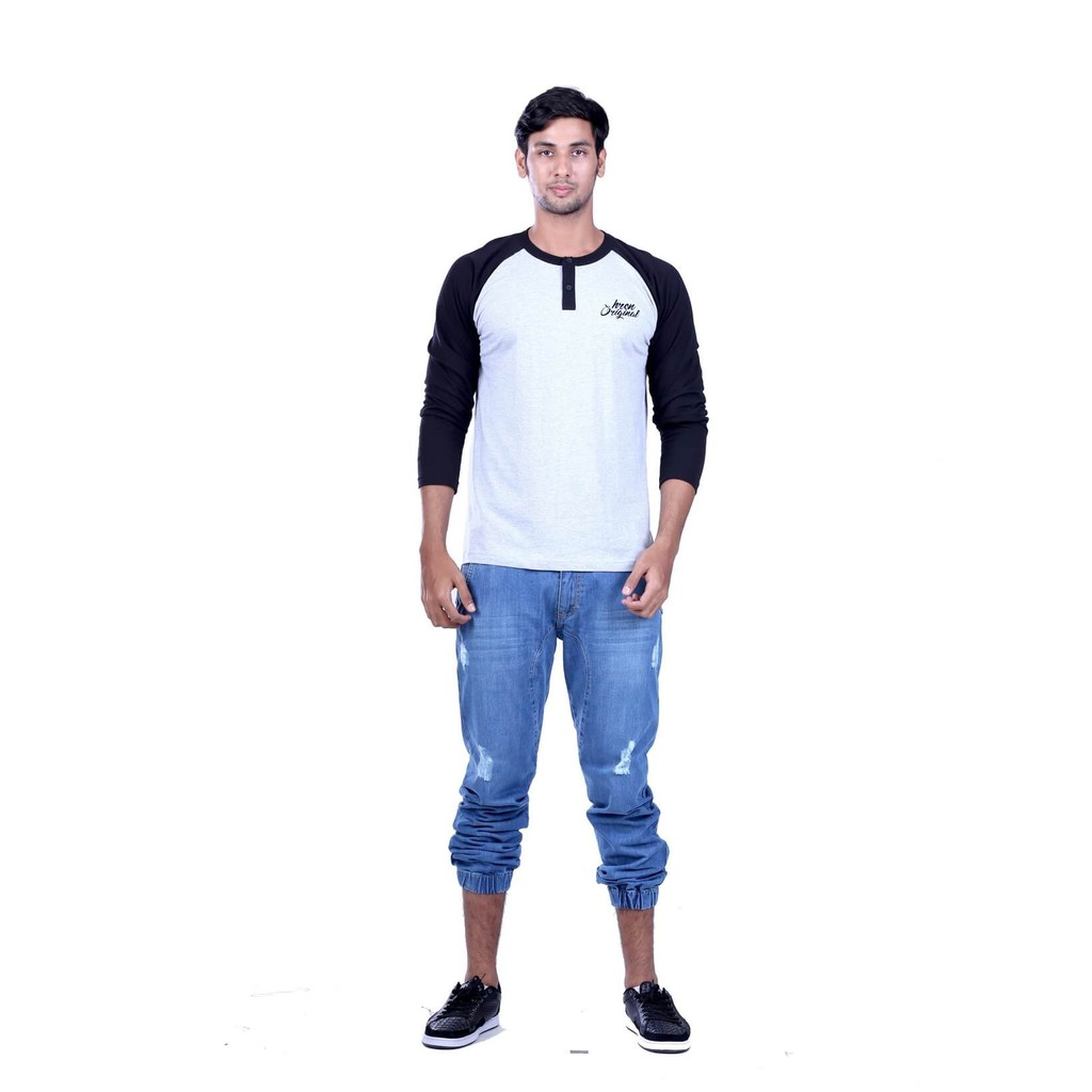 Hrcn Kaos Pria Lengan Panjang Man Long Sleeve T Shirt Cotton Combed Polo Distro H 0246 Katun
