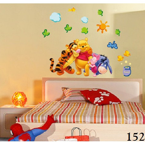 Wallsticker / Wallstiker / Wall Stiker / Stiker Dinding 152 Pooh Family | Shopee Indonesia