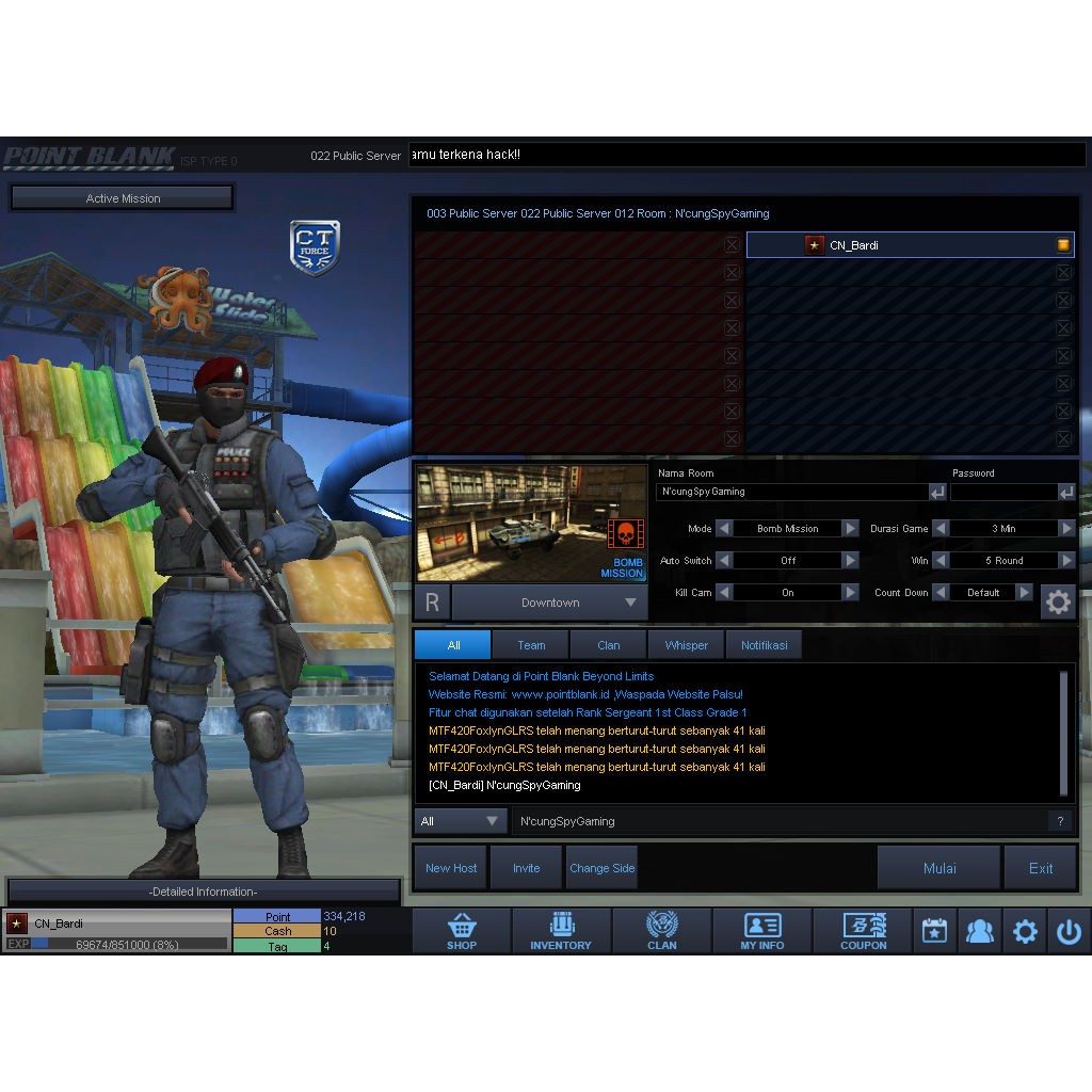 Char Point Blank Pangkat B1 Bonus M2g4 M3g2 All Data Polos Termurah Shopee Indonesia