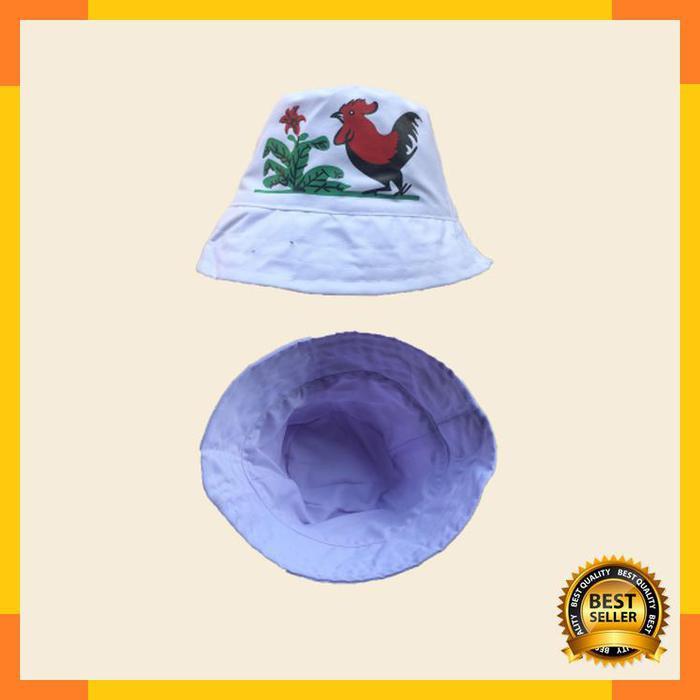 Promo Topi Bucket Hat Legendary Mangkok Ayam Jago - Putih  4874b949d18