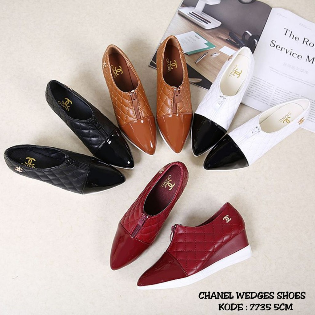 6adb10fa67ff NEW ARRIVAL CHANEL WEDGES SHOES 7735