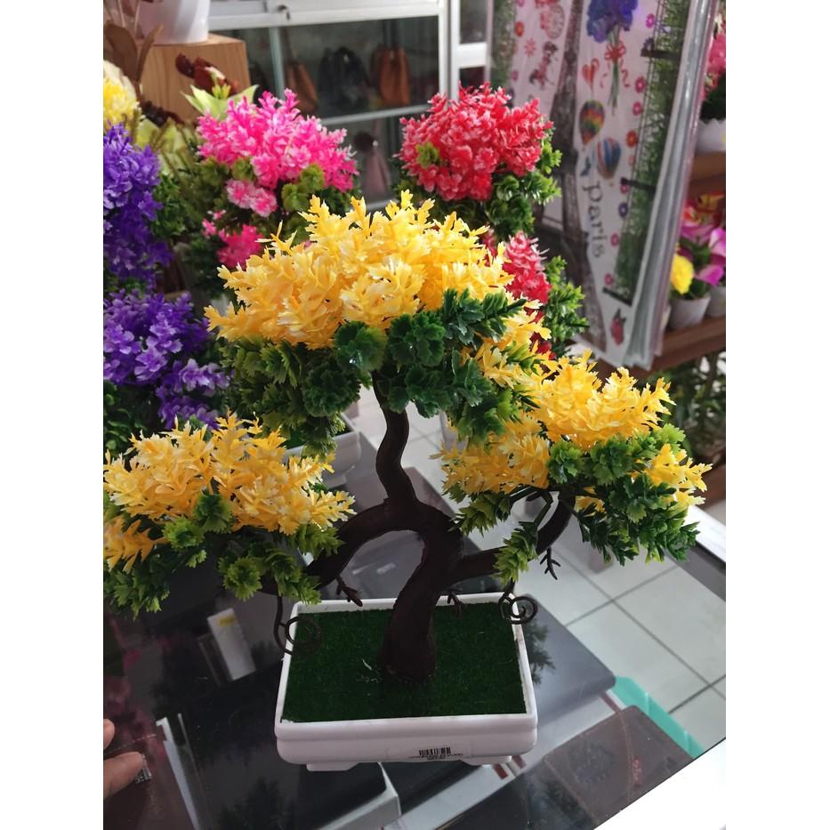 Bonsai Pohon Artificial Warna - Tanaman Plastik Hias Dekorasi ... d32e03c741