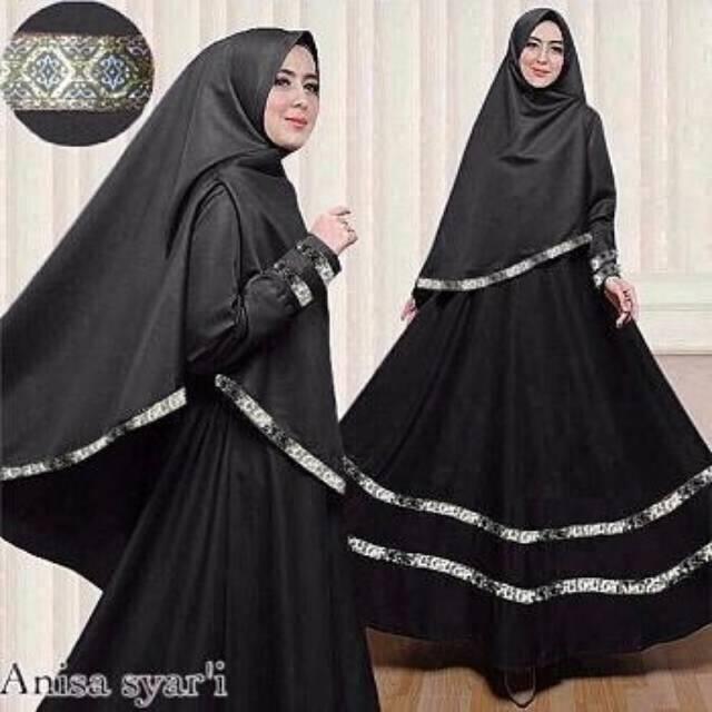 Any Fashion Anisa Syari Gamis Syari Murah Baju Muslim Wanita Murah Shopee Indonesia