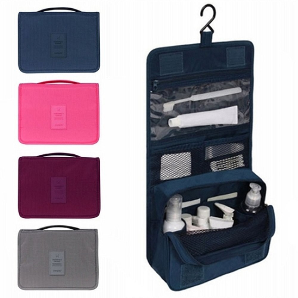 HANGING TRAVEL TOILETRY BAG - COSMETICS MAKEUP ORGANIZER | Shopee Indonesia